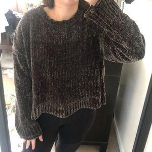 Zara Knit Hunter Green Sweater
